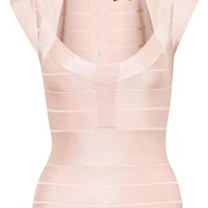 French Connection Pink Bandage Dress (NWOT)